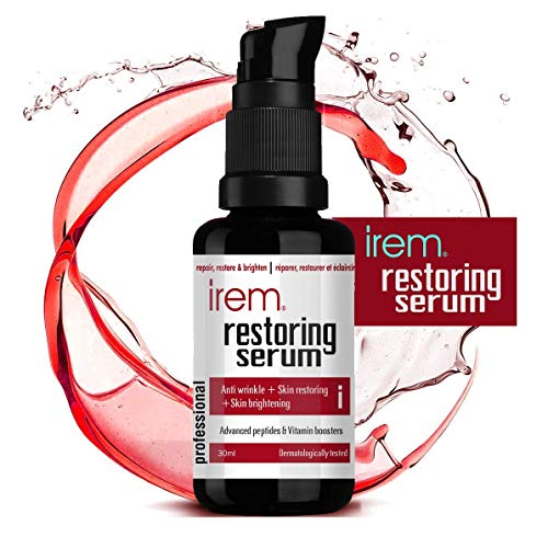 Irem Restoring Serum - Anti aging collagen boosting serum with Powerful Peptide and Vitamin Booster, helps protect, repair and brighten skin, 30ml