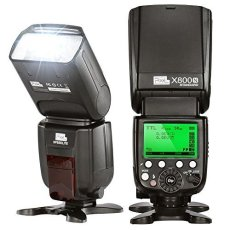 PIXEL X-800N/STANDARD - Flash (Flash de videocámara, Negro, 7-90°, 180-180°, 20-200 mm, Batería)