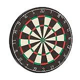 Relaxdays Dartscheibe Bristle Board Profi X6, 45 cm, Naturfasern Sisal, professionelles Dartboard, max. Average, schwarz