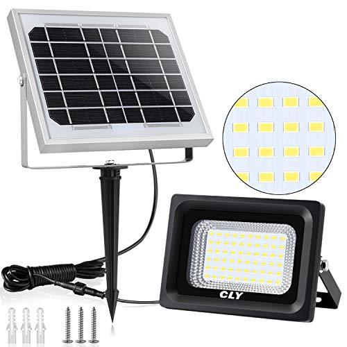 Faretto Solare CLY di 60 LED, Lampada Solare da Esterno Impermeabile(IP66), Luci Solari da Esterni...