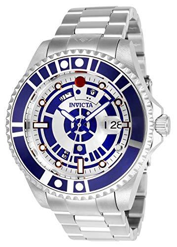 Invicta 26164 Star Wars Herren Uhr Edelstahl Automatik silbernen Zifferblat