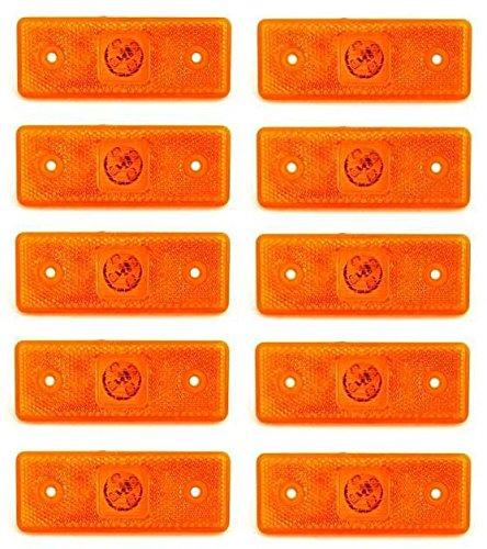 Luci di ingombro laterale, confezione da 10 pezzi, colore: arancione ambra, 24 V, 4 LED, per...