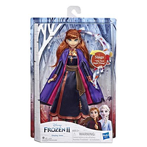 Disney Frozen 2 - Anna Cantante, Bambola elettronica con Abito Viola, Ispirato al Film Frozen 2