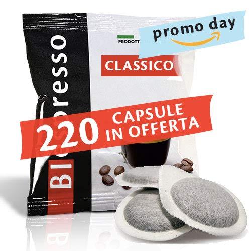 BIespresso 200 + 20 Cialde 38 mm, Aroma Classico, Prodotte in Italia, Formato Xp