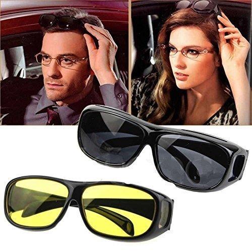 Bulfyss Hd Vision Anti Glare Sunglasses Wrap Around Day & Night Driving
