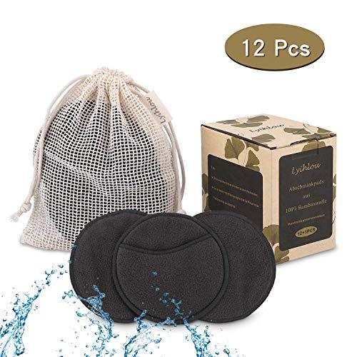 Lyihlou Abschminkpads 10CM waschbar Gesichtsreinigungspads wiederverwendbar Make Up Entferner Pads mit Wäschebeutel aus 100{02446fbe6fe440353f7499fc1a400bc9e58a413c437bca053dc899bbc1ae6308} Baumwolle- 12pcs