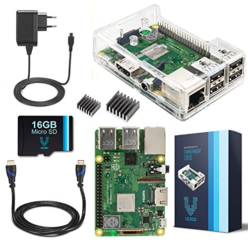 V-Kits Raspberry Pi 3 Model B+ (Plus) Starter Kit Completo -Edizione Presa EU