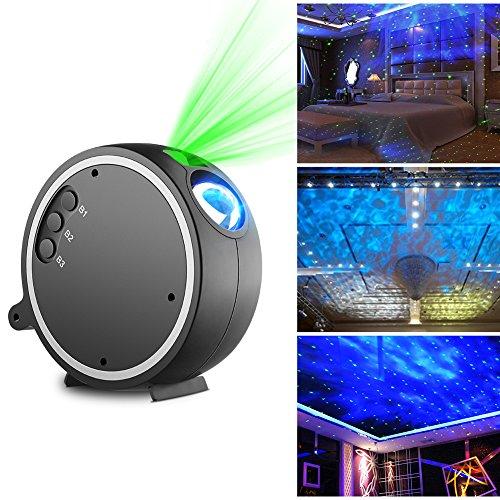 LED Luce Proiettore, Kingtoys Romantico Cielo stellato Lampada Proiettore,La luce ruota a 360...
