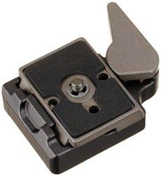 Manfrotto 323 - Plato soporte para cámara, negro