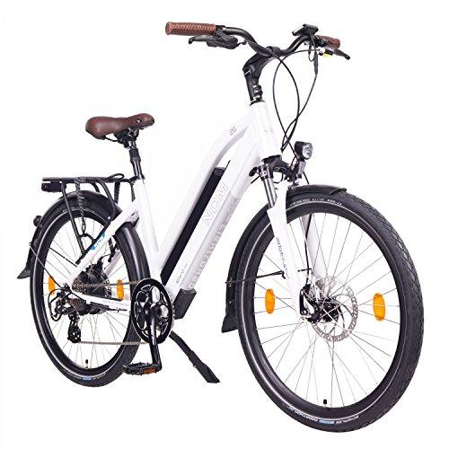 NCM Milano Bicicletta elettrica da Trekking, 250W, Batteria 48V 13Ah 624Wh (Bianco 26')