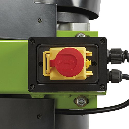 Safety on and off switch to send power to the motor.