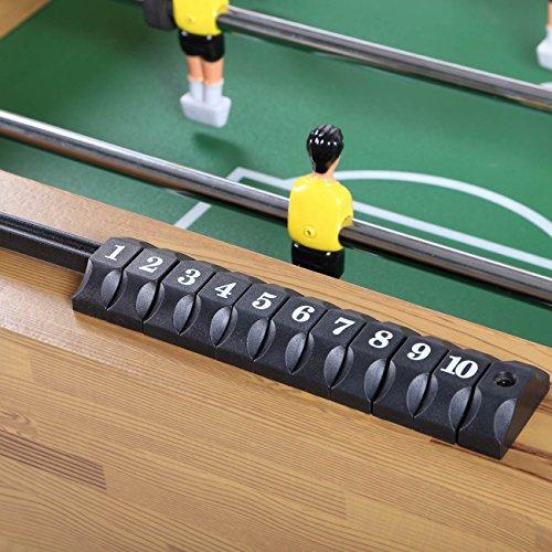 SAMAX Calcio Balilla Biliardino fatto di Legno con Portabicchieri includere 2 portabicchieri Pieghev