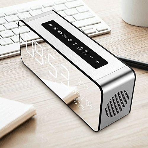 Vinteen Ménage Réveil Bluetooth Haut-Parleur Multifonction Téléphone portable Insérer Carte Sans Fil Poids Basse Pistolet Mini Petit Son Hau... 24