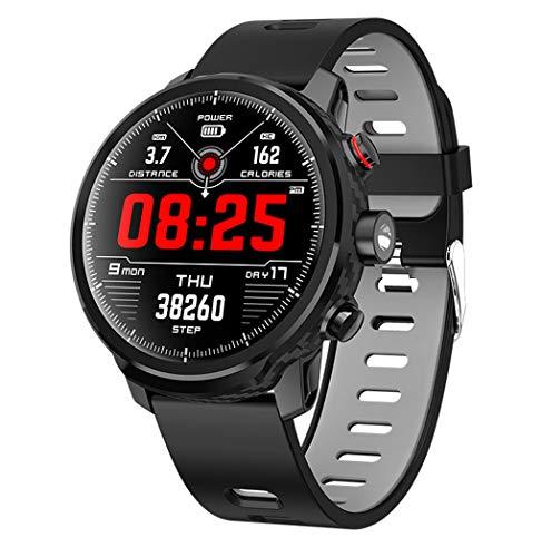 FXMINLHY Tracker di attività di Fitness con cardiofrequenzimetro 1,3 Pollici Pedometro dello...