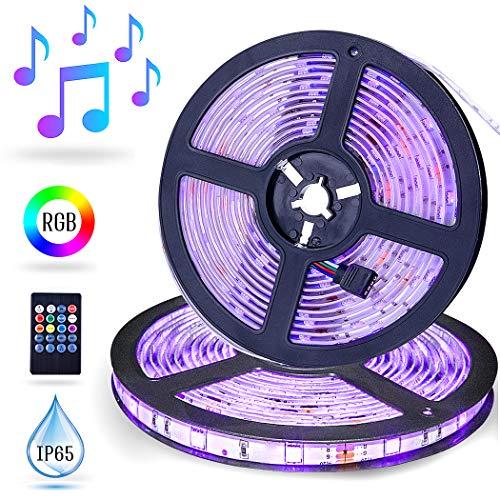 Striscia LED Musica,10M ESEYE LED TV Retroilluminazione RGB Strisce 5050 Auto-adesiva Suoni Attivata...