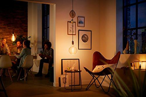 51KjY-chsDL Bon Philips Hue !  Philips ampoule LED Giant Standard Vintage Filament E27 5W Equivalent 25W Claire Ambrée Blanc chaud