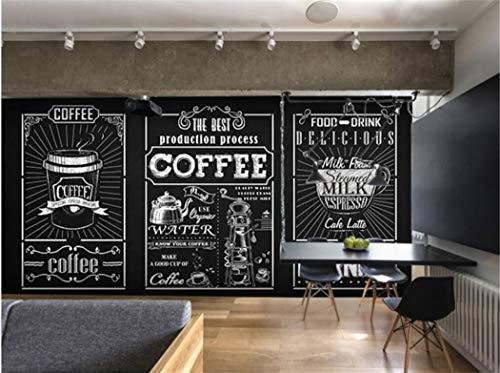 Carta Da Parati Carta Da Parati Fotografica 3D Lavagna Personalizzata Mano Murale Caffè Fast Food...