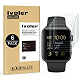 [6 Pack] Pellicola Vetro Temperato Apple Watch 38mm Series 1 / Series 2 / Series 3, iVoler ** [Protezione Antigraffi] **Anti riflesso Ultra Clear** Ultra resistente in Pellicola Apple Watch 38mm Series 1 2015 / Series 2 2016 / Series 3 2017, Pellicola Protettiva Protezione Protettore Glass Screen Protector per Apple Watch 38mm.Vetro con Durezza 9H, Spessore di 0,2 mm,Bordi Arrotondati da 2,5D   Garanzia a Vita