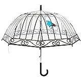 Parapluie La Chaise Longue cloche femme transparent automatique - Imprimà Cage à Oiseaux