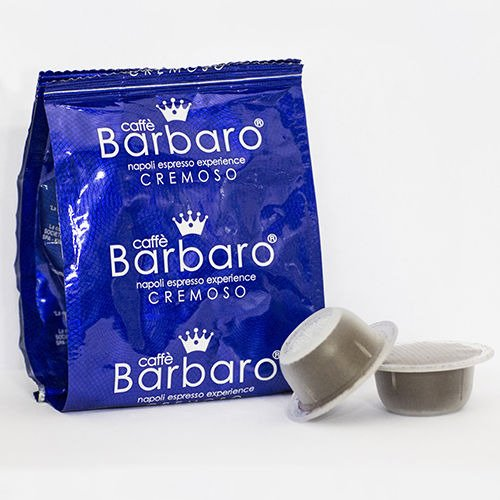 300 CAPSULE CAFFE' BARBARO compatibili bialetti CREMOSO NAPOLI