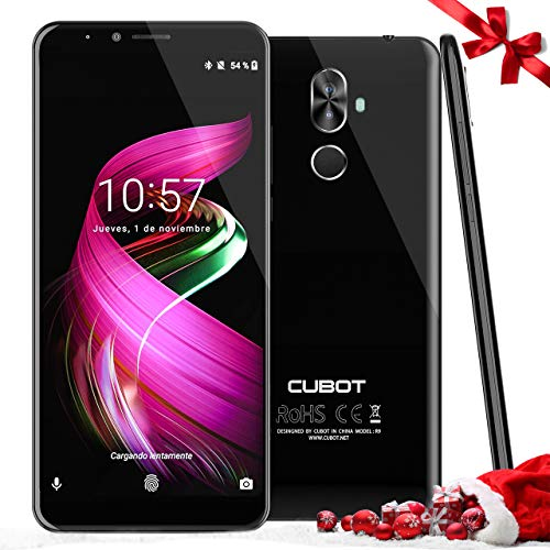 CUBOT X18 Plus - 4GB + 64GB Smartphone Libre de 18:9 Sin límite /5.99'' FHD de VicTsing (Teléfono Móvil Dual Cámara 20MP+13MP, Gran Batería 4000 mAh, 4G, Andriod 8.0, Dual SIM) -Negro【ES Español 2018】