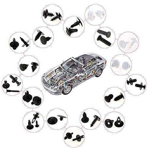 zexuan 415 pcs clips agrafe rivets plastiques voiture rivets fixation de protection noir lot de. Black Bedroom Furniture Sets. Home Design Ideas
