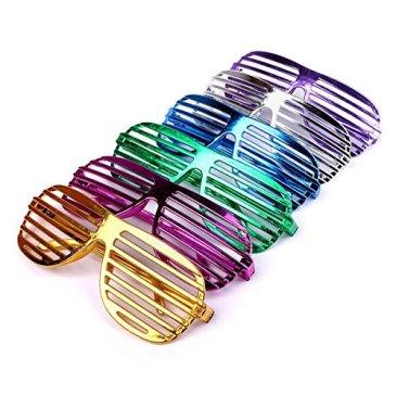Schramm Onlinehandel S/O Lot de 6 Paires de Lunettes de soirée colorées pour Lunettes de Soleil