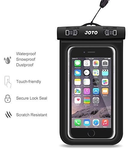 """Universal Waterproof Case, JOTO Cellphone Waterproof Case Dry Bag Pouch for Apple iPhone 6S 6,6S Plus, 7 SE 5S, Samsung Galaxy S7 S6, Note 5 4, HTC LG Sony Nokia Motorola up to 6.0"""" Diagonal (Camo)"""