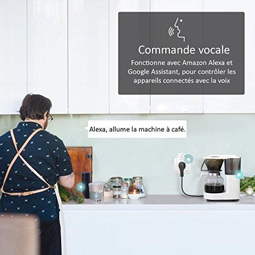 51Kx6mQfu%2BL [Bon Plan Domotique] TP-Link HS100(FR) Prise connectée WiFi, Charge maximale 16A, compatible avec Amazon Alexa (Echo et Echo Dot), Google Assistant et IFTTT pour la commande vocale, aucun hub requis