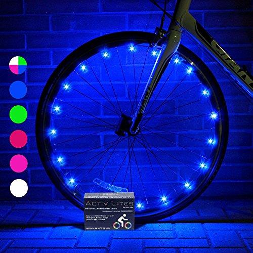 Activ Life Luci per Le Ruote delle Biciclette (Conf. da 1 per Copertone, Blu) - Miglior Regalo di...
