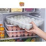 Prokth porta uova per frigorifero con coperchio in plastica, 34scomparti single layer Egg conservazione vassoio Fresh box