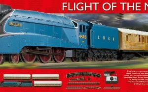 Hornby R1171 Flight of the Mallard 00 Gauge Electric Train Set 51L4FEDzm3L