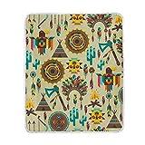 Manta para Silla Diseño Indígena Carpas, Flechas y Plumas