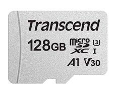 Transcend USD300S - Tarjeta microSD de 128 GB, microSDXC Clase 10 UHS-I U3, V30, A1, Lectura hasta 95 MB/s