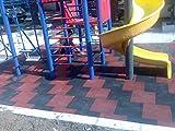 7 x Negro SUELOS PARA PARQUES INFANTILES suelos de caucho protector Losetas de caucho