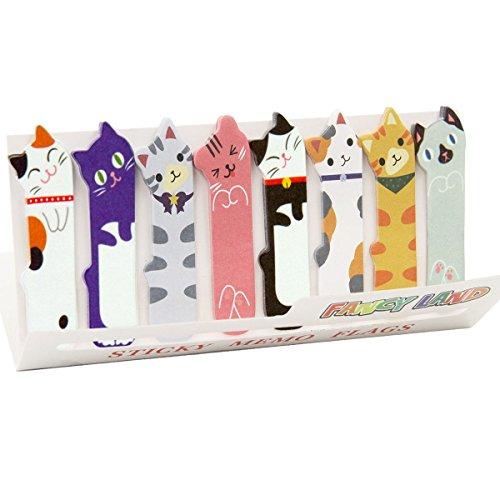 Nette Katze Sticky Memo Hinweise Index Tabs Seite Markierer für die Büro-Schule Lesen