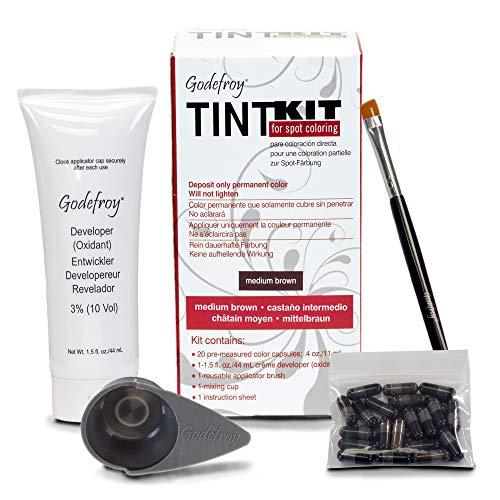Godefroy TintKit for spot coloring, Augenbrauen,Bart- Färbeset für Profis, braun, 1er Pack (1 x 20 Stück)