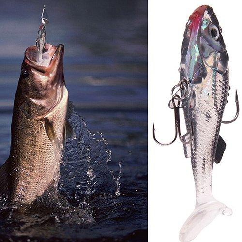 XQxiqi689sy 7,6 cm Morbido Lures PVC Durevole Bass Trota Shad Crank Worm Pesca Esche affilate in Vendita liquidazione