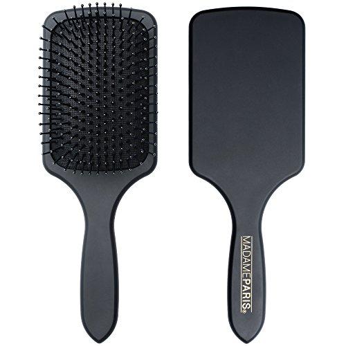 MadameParis - Brosse Plate - Brosse à Cheveux haut de gamme - Paddle Brush - Brosse de Coiffeur - Brosse professionnelle