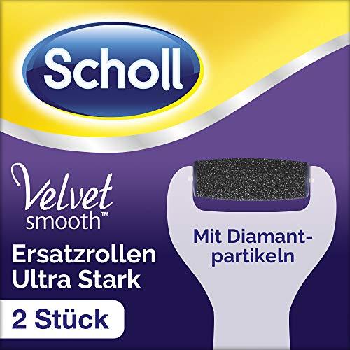 Scholl Velvet Smooth Wet & Dry Ersatzrollen Ultra Stark - Nachfüller für die elektrischen Hornhautentferner von Scholl - Mit Diamantpartikeln - 2 Rollen