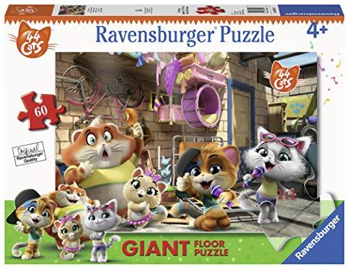 Ravensburger 03005 44 Gatti Puzzle, Giant, 60 Pezzi