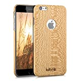 kalibri Funda para Apple iPhone 6 Plus / 6S Plus - Carcasa Trasera [Ultra Delgada] de [Madera] - Cover Protector [marrón Claro]