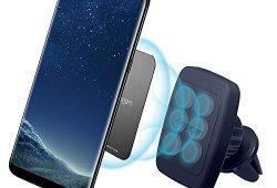 Support Téléphone Voiture, Spigen [Prime Air Vent magnétique][Hexa Néodyme Core][360 Degrés] Support téléphone pour les grandes Téléphones iPhone X/8/7,Galaxy S8/S7/Note 8 – H12 Midnight Blue Prix
