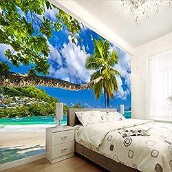3 D Ocean Mural Papier Peint Tv Plage Photos Salon Chambre Fond D'écran Fond D'écran Pour Murs Tissu De Soie (W)400x(H)280cm