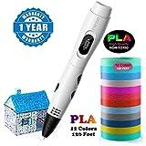 3d stifte, Parner 3D Stift mit 12 Verschiedenen PLA Farb Ersatzminen, 3D Pen für Kinder Sicher und...