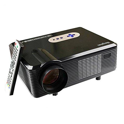 3000 Lumen HD Beamer, Mengshen® 1280 x 800P Full HD Multimedia Mini Portable LCD Projektor 1080P Unterstützung für Heimkino Movie Night Video TV Gaming Training Business Education MS-CL720Black