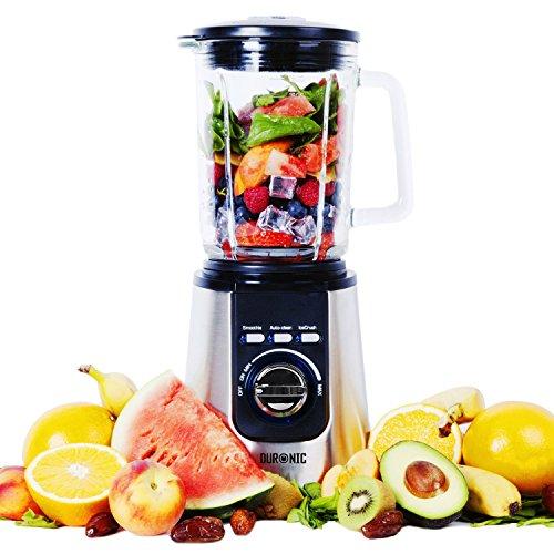 Duronic BL1200 Blender Frullatore da tavolo mixer cucina lame 4 coltelli acciaio INOX 1200W...
