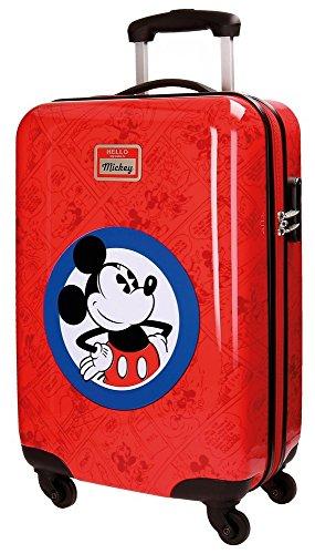 Disney Hello Mickey Valigia per bambini, 55 cm, 35 liters, Rosso (Rojo)