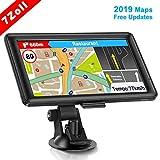 GPS Navi Navigation für Auto, LKW PKW Touchscreen 7 Zoll 8G 256M Sprachführung Blitzerwarnung mit POI Lebenslang Kostenloses Kartenupdate Navigationsgerät Fahrspurassistent EU UK 61 Karten 2019