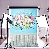 Telon photocall estudio Fotográfico, Vídeo TV fotografia Feliz Cumpleaños, tarjetas invitacion infantil happy birthday fiesta eventos diseño globos colores de 90 cm x 1.50 cm